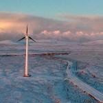 Wind turbine in Toksook Bay, Alaska