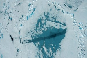 sea ice viewed from above