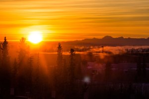 sunrise in alaska