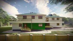 Dwa budynki mieszkalne jednorodzinne w zabudowie bliźniaczej. Rzeszów miasto 2