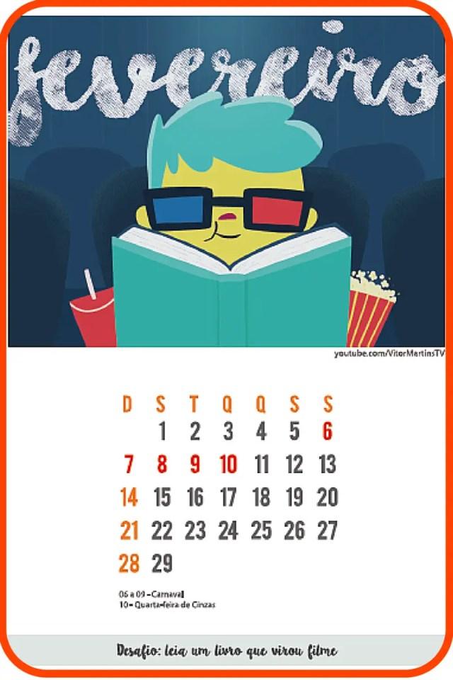 Amostra de calendário