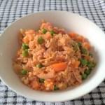 Receita de uma panela só: arroz colorido