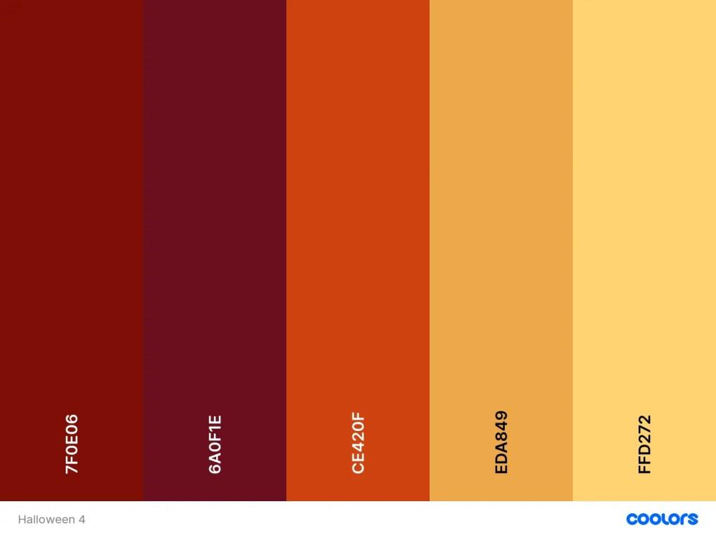 paletas de cores de halloween