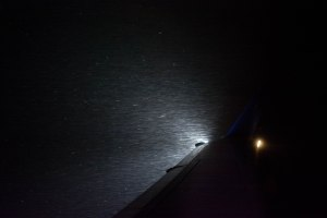 The rain was so heavy that we could clearly see it from the plane!
