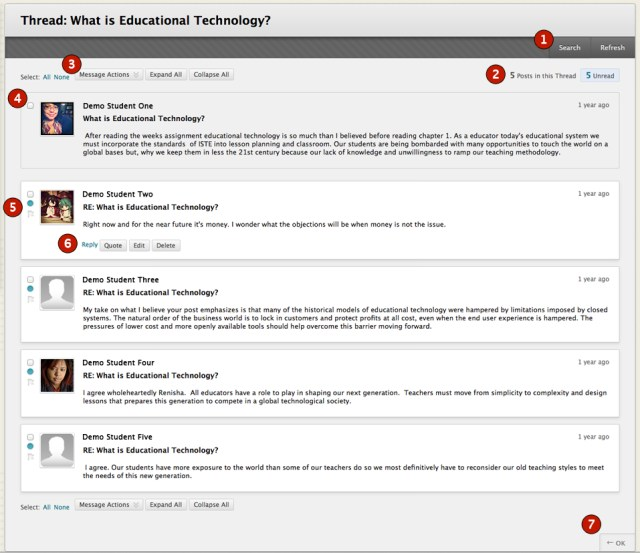 Discussion Boards - Blackboard Student Support