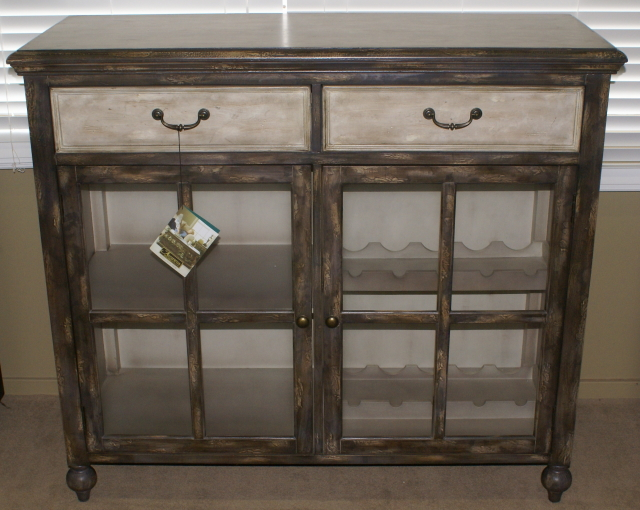 Two Tone Painted Distressed Cabinet