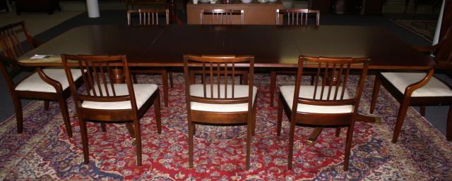 Ebert Furniture Company Mahogany Duncan Phyfe Dining Room