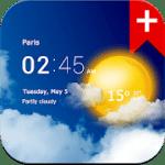 Transparent clock weather Premium 1.41.01 APK Paid