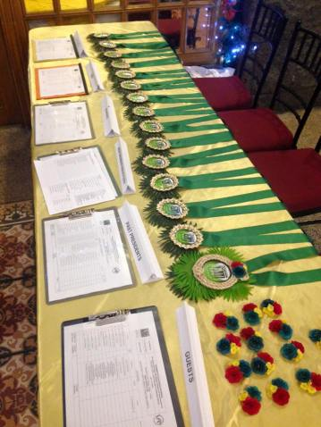 Registration Table with the Anahaw Garlands