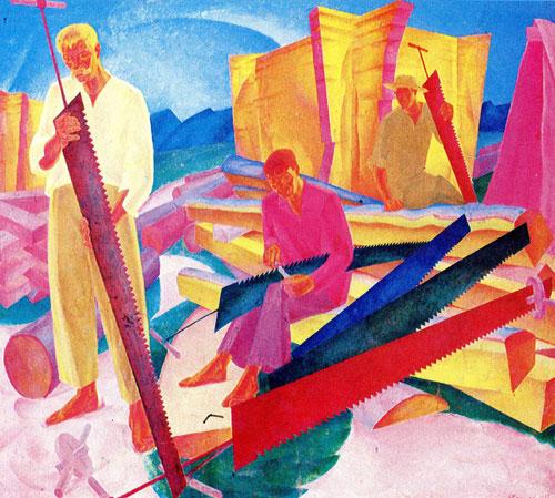 Олександр Богомазов - Правка пилок, 1927
