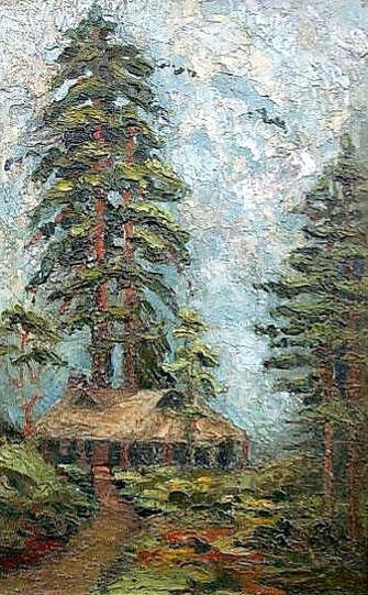 Давид Бурлюк - Ліс в Японії, 1920
