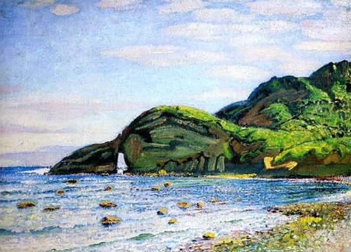 Давид Бурлюк - Пляж в Японії, 1921