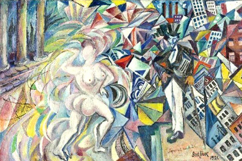 Давид Бурлюк - Японія та Америка, 1921