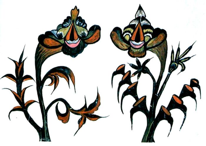Декоративні розписи Ірини та Софії Гоменюк у зібранні Запорізького художнього музею