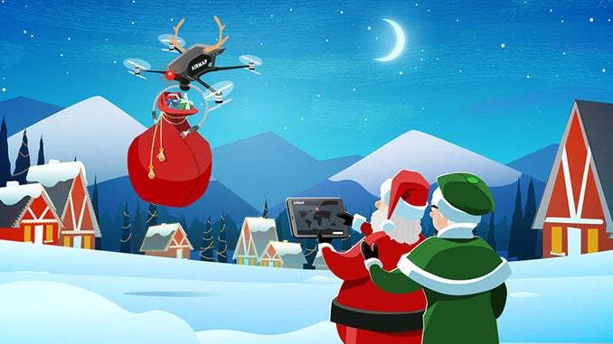 Follow Santa's Christmas Eve drone flight at santa.airmap.com