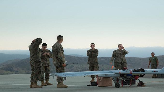 US Marines Use RQ-7 UAS In Support of wildlife survey On Camp Pendleton