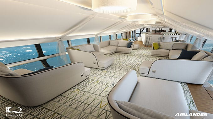 Hybrid Air Vehicles Limited and Design Q Have Unveiled The Airlander 10 Passenger Cabin