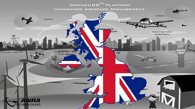 ANRA TECHNOLOGIES UAS TRAFFIC MANAGEMENT (UTM) SOARS INTO THE UK
