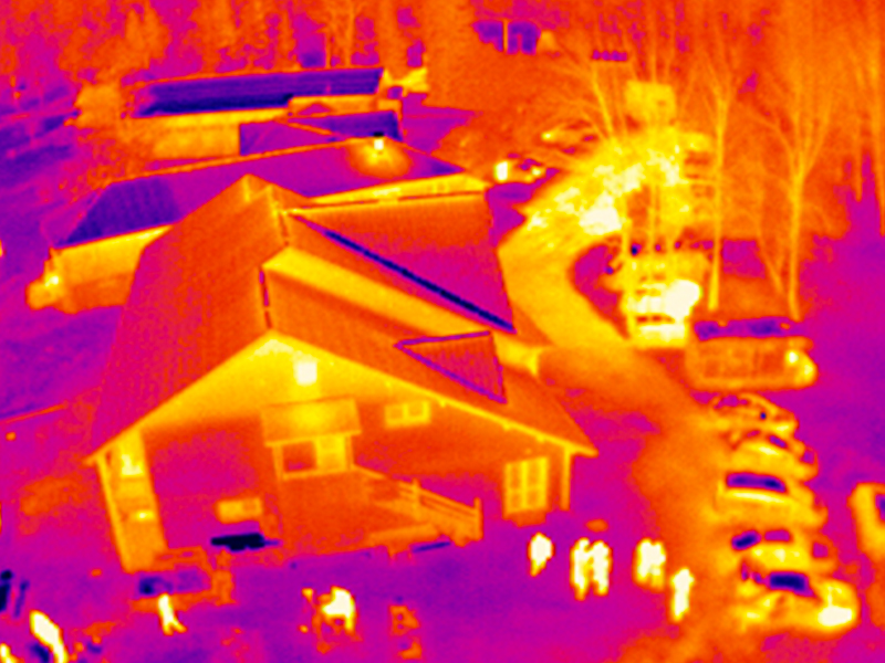 Aerial thermography by drone