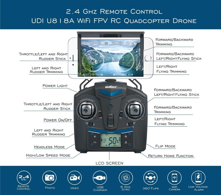 udi 818a cheap drone with a camera