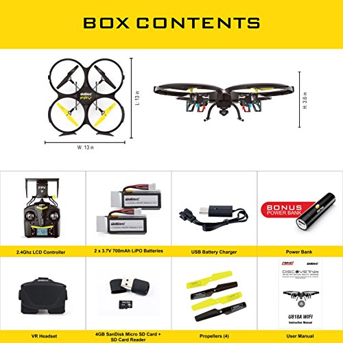 u818a wifi fpv drone with altitude hold and hd camera
