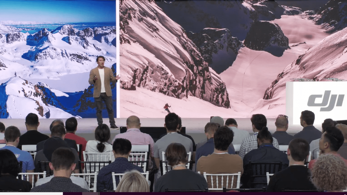 Jimmy Chin speaks at See the Bigger Picture