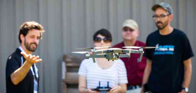 group drone training