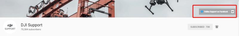 DJI Support YouTube