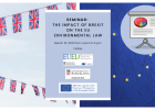Seminar: The impact of Brexit on the EU environmental law