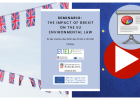 Vídeo y presentaciones seminario: The impact of Brexit on the EU environmental law