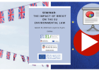 Video and presentations seminar: The impact of Brexit on the EU environmental law