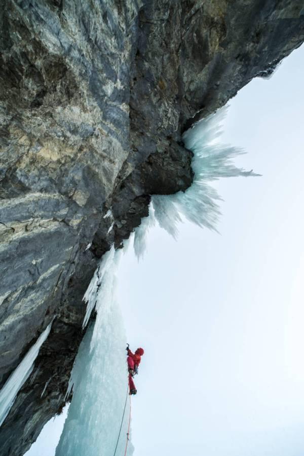 Cascade de glace à la Grave
