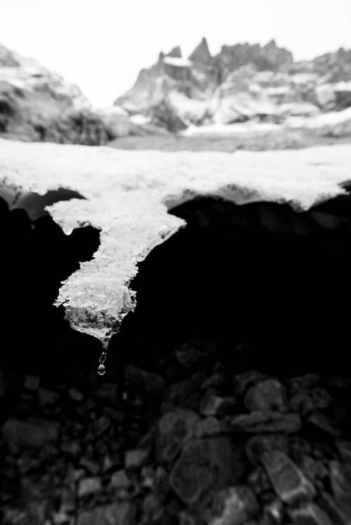 Un Bout De Glacier Et La Meije En Fond