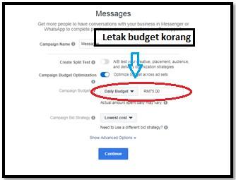 Cara-cara untuk setup messenger ads di Facebook 3