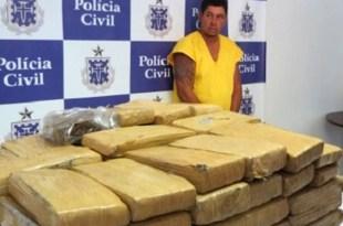 Operação da Civil com a Federal apreende 120 quilos de maconha prensada
