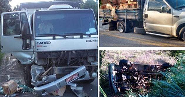 Jitaúna: Tentativa de ultrapassagem causa acidente com três veículos na BR-330