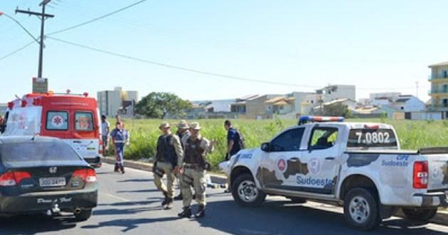 PM reage a assalto e ladrão é baleado em Vitória da Conquista