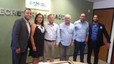 Reunião com o Secretário de Saúde da Bahia, tratou do hospital de Ubaitaba e outros