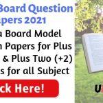 Kerala Board Model Papers 2021