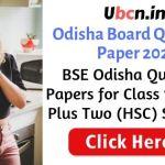 Odisha Board Question Paper 2021