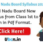 Tamil Nadu Board Syllabus