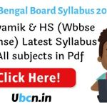West Bengal Syllabus 2021