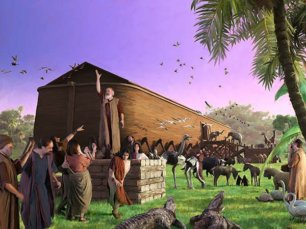 Because men were so wicked, God sent a great flood which destroyed every person except Noah and his family