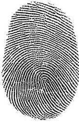No one else has a fingerprint exactly like that.