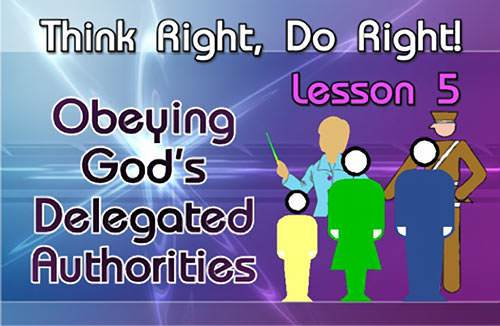 Obeying God's Delegated Authorities