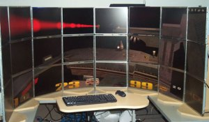 Quake III on 24 monitors