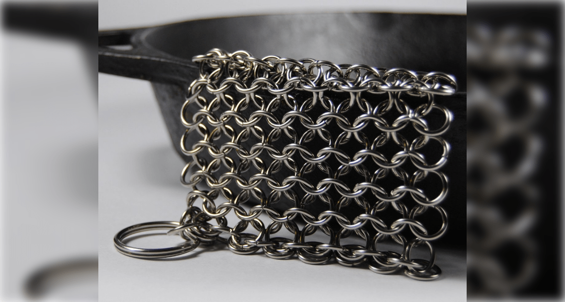 Chainmail Cast Iron Scrubber