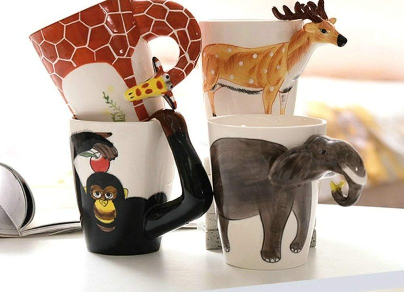 Creative Hand-Painted 3D Animals Porcelain Mug Ceramic Cups