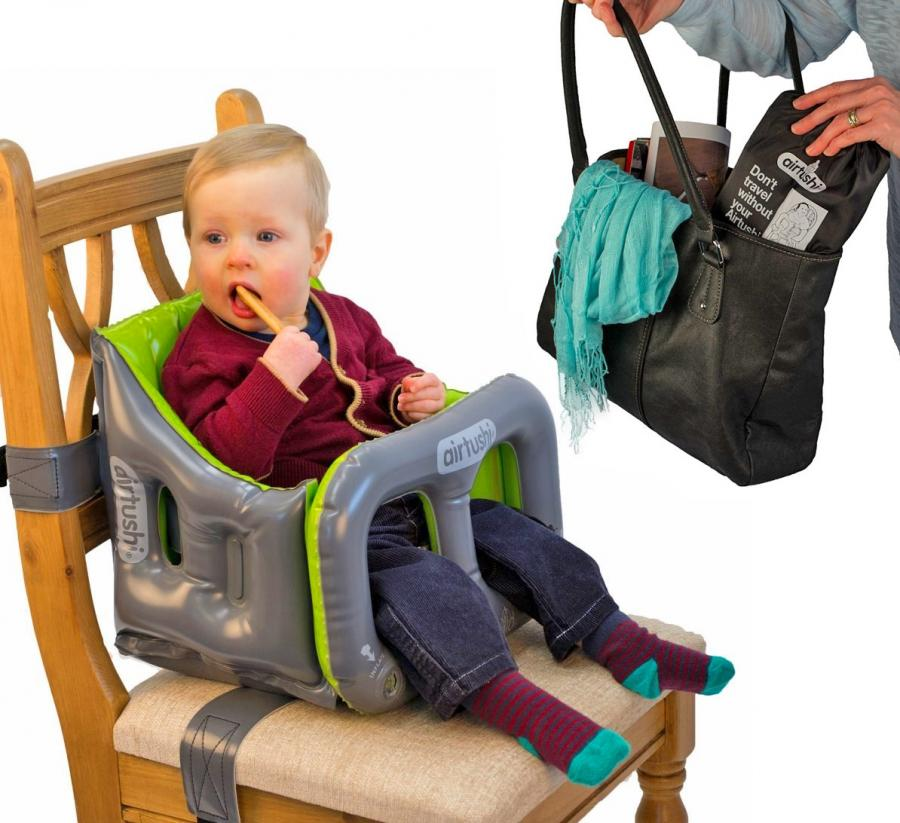 Airtushi: Inflatable Travel High-Chair