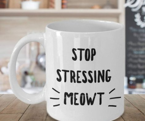Stop Stressing Meowt Cat Mug